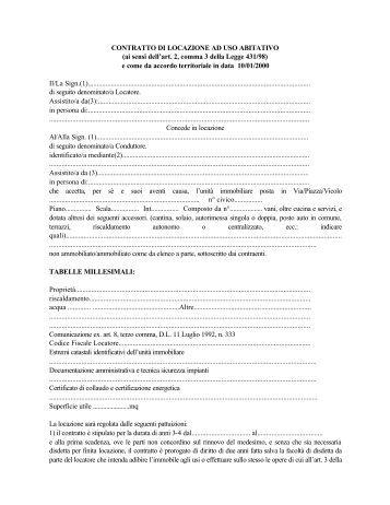 Contratto di locazione uso commerciale pdf - Contratto di affitto ad uso abitativo ...
