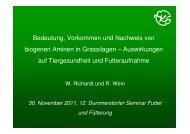 Bedeutung, Vorkommen und Nachweis von biogenen Aminen in ...