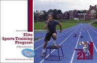 Elite Sports Training Program - Milton Academy