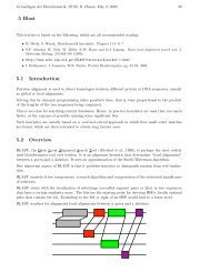 5 Blast 5.1 Introduction 5.2 Overview - Algorithms in Bioinformatics