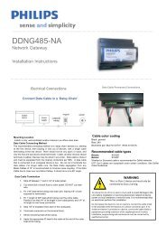 DDNG485-NA - Philips Lighting Controls