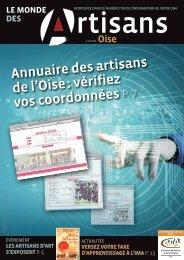 Janvier - février 2013 - Chambre de Métiers et de l'Artisanat de l'Oise