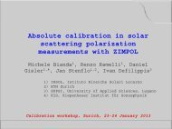 Absolute calibration in solar scattering polarization measurements ...