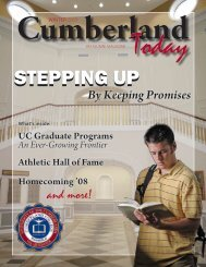 STEPPING UP - University of the Cumberlands