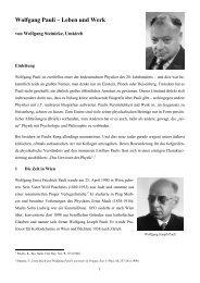 Wolfgang Pauli – Leben und Werk