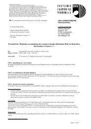 Protokoll der Mitgliederversammlung 2006 - DHV-Landesverband ...