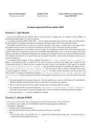 Examen réparti du 09 novembre 2010 Exercice 1 : Fair threads ...