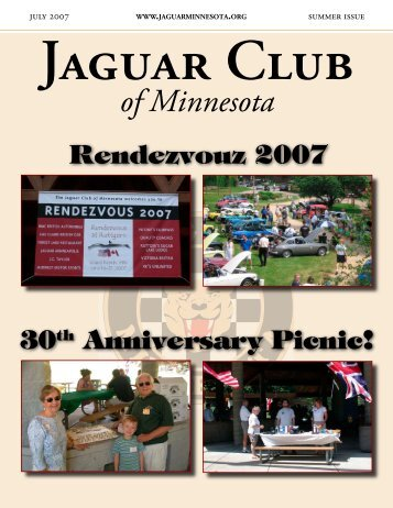 Summer Quarter Newsletter - July, 2007 - Jaguar Club of MN