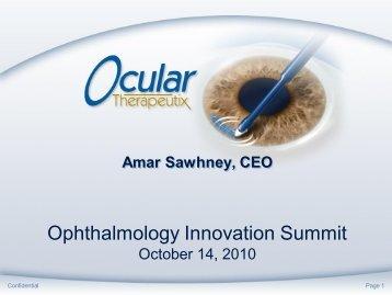 Ocular Therapeutix's Polyethylene glycol (PEG) technology has ...