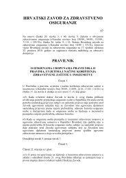 Pravilnik o pravima, uvjetima i načinu korištenja zdravstvene zaštite ...