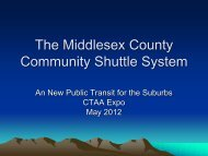 The Middlesex County Community Shuttle System