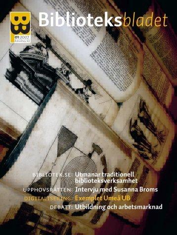 Tidningen som pdf-dokument - Svensk Biblioteksförening