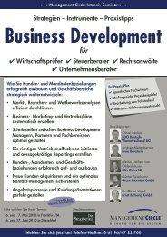 Seminar: Business Development - Management Circle AG - K&L Gates