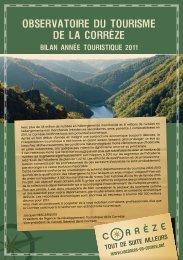 OBSERVATOIRE DU TOURISME DE LA CORREZE - Conseil ...