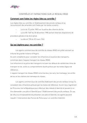 Règlement complet du réseau bus-tram Irigo [PDF]