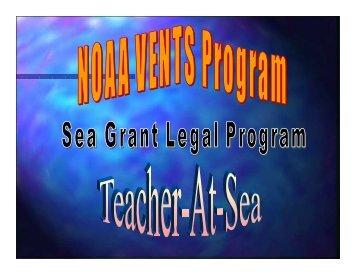 NOAA's Teacher-At-Sea Program - Mississippi-Alabama Sea Grant ...