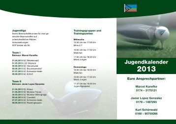 Jugendkalender - Golfclub Schwarze Heide