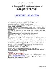 Stage Hivernal - Rillieux Lyon Triathlon
