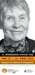 15. würzburger aphasie-tage - Aphasiker-Zentrum Unterfranken ...