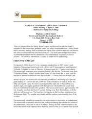 NATIONAL TRANSPORTATION SAFETY BOARD Public Meeting of ...