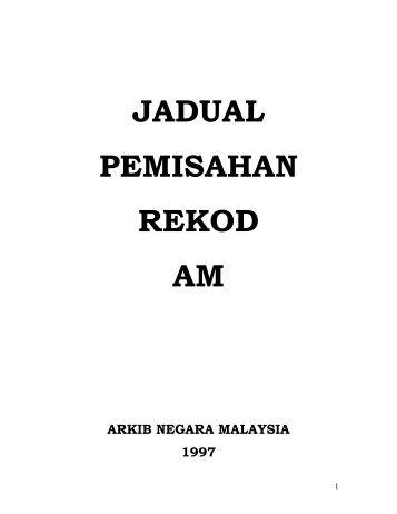 JADUAL PEMISAHAN REKOD AM