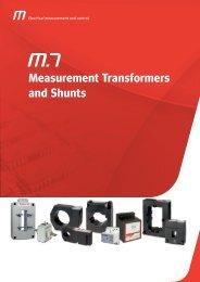 Measurement Transformers and Shunts - Metartec