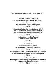 Unsere Speisekarte als pdf - Hotel Kreller