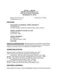 JEFFREY L. ABRAMS ABRAMS AND ... - Temple Fox MIS