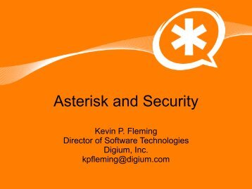 Asterisk and Security - Profoss