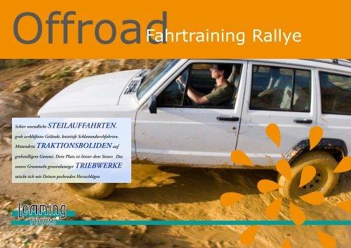 Fahrtraining Rallye
