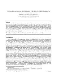 Abstract Interpretation of Microcontroller Code ... - University of Kent