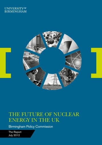the future of nuclear energy in the uk - University of Birmingham