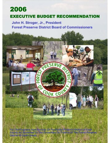 FY 2006 Budget - Forest Preserve District of Cook County