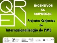 Internacionalização de PME - QREN