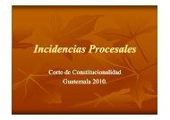 Incidencias Procesales (17/02/10) - Corte de Constitucionalidad
