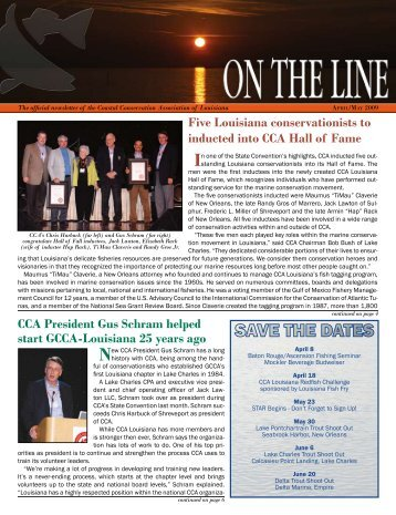 CCA President Gus Schram helped start GCCA-Louisiana 25 years ...