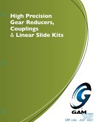GAM Gear Reducer 2011 Catalog - Electromate Industrial Sales ...