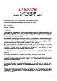 LAUDATIO AL PROFESOR MANUEL DA COSTA LOBO - Isocarp