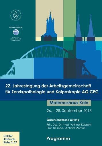 EINLADUNG/Programm - AG CPC