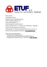 Essener Turn- und Fechtklub – Segelriege - Uniqua Deutschland eV