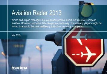 Aviation Radar 2013 - Roland Berger