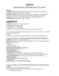 Curs 14 – Fiziopatologia metabolismului glucidic - OvidiusMD