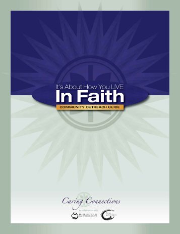 It's About How You Live In Faith Community Outreach Guide
