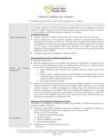 2009 Clinical Practice Guidelines (CPGs) - Peach State Health Plan ...