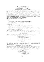 Homework # 1 Solutions Math 232, Spring 2012 Instructor: Dr ...