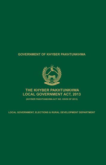 GOKP-2013-Khyber-Pakhtunkhwa-Local-Government-Act-2013-Print-Version