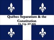 Quebec Separatism and the Constitution