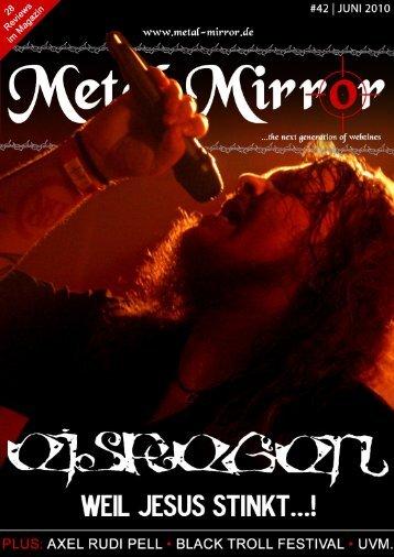 METAL MIRROR #42 - Eisregen, Axel Rudi Pell, Black Troll Festival ...