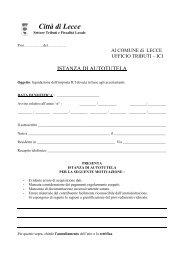 Modulo Istanza di autotutela - Comune di Lecce