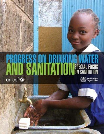 on sanitation - Unicef